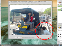 penggunaan clone tool pada GIMP