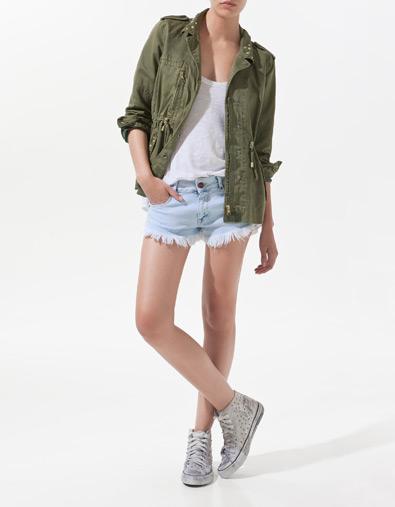 Parka verde Zara primavera/verano 2012