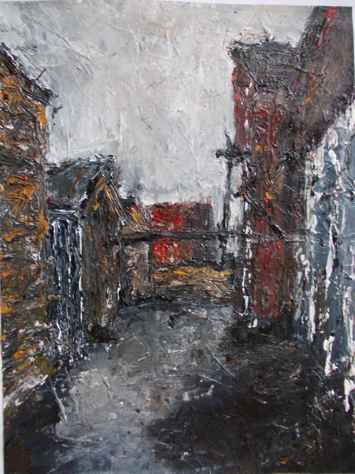 painting study with pallet knife
