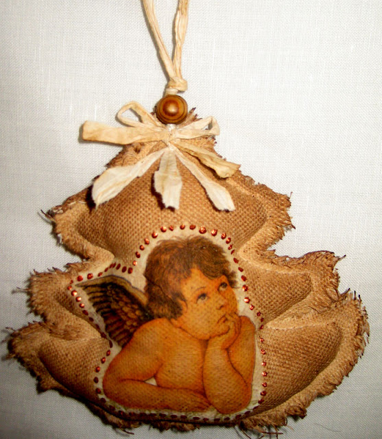 ангел кофейные игрушки на ёлку