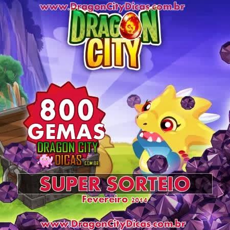 Super Sorteio - Concorra à 800 Gemas - Fevereiro