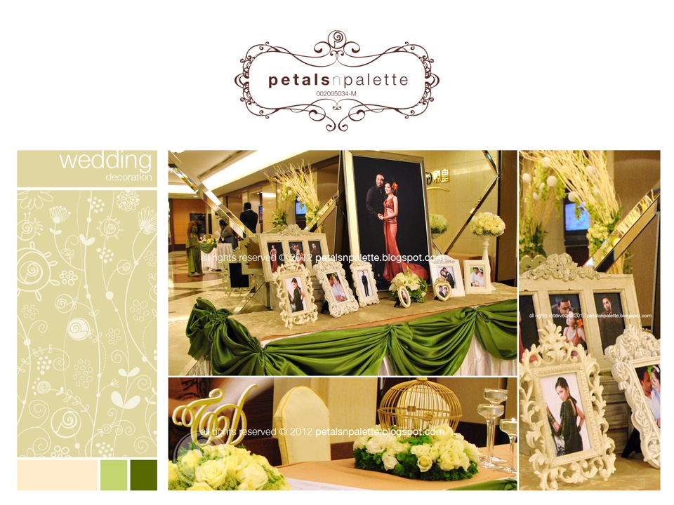 Wedding event decoration wedding decoration malaysia floral wedding decor photo album corner reception table decor junglespirit Gallery