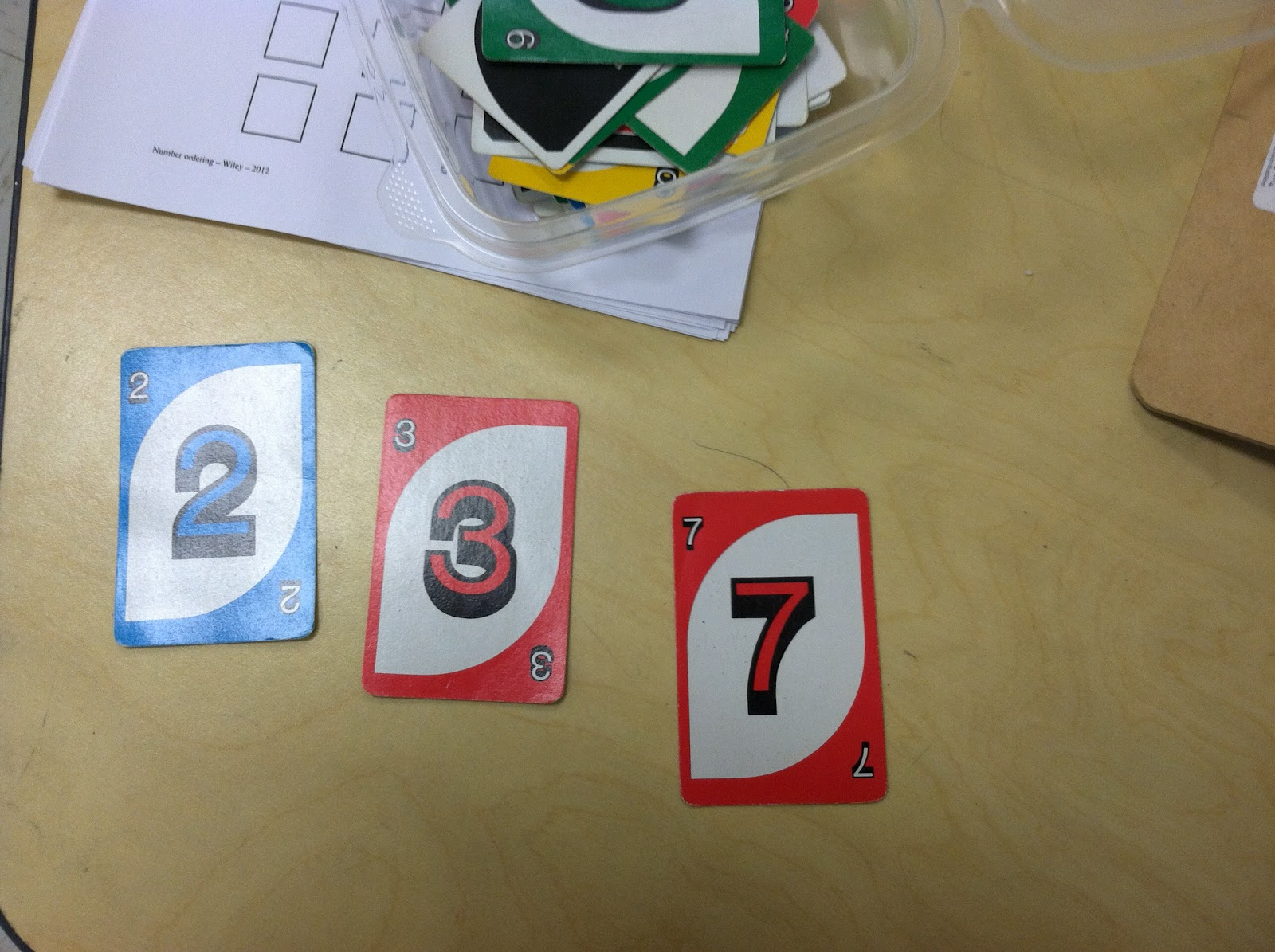 Uno cards (Brick by Brick)