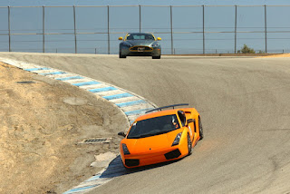 Cars at the corkscrew, Mazda Raceway Laguna Seca, Salinas, California