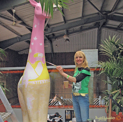 Ingrid Sylvestre Stand Tall for Giraffes at Colchester Zoo