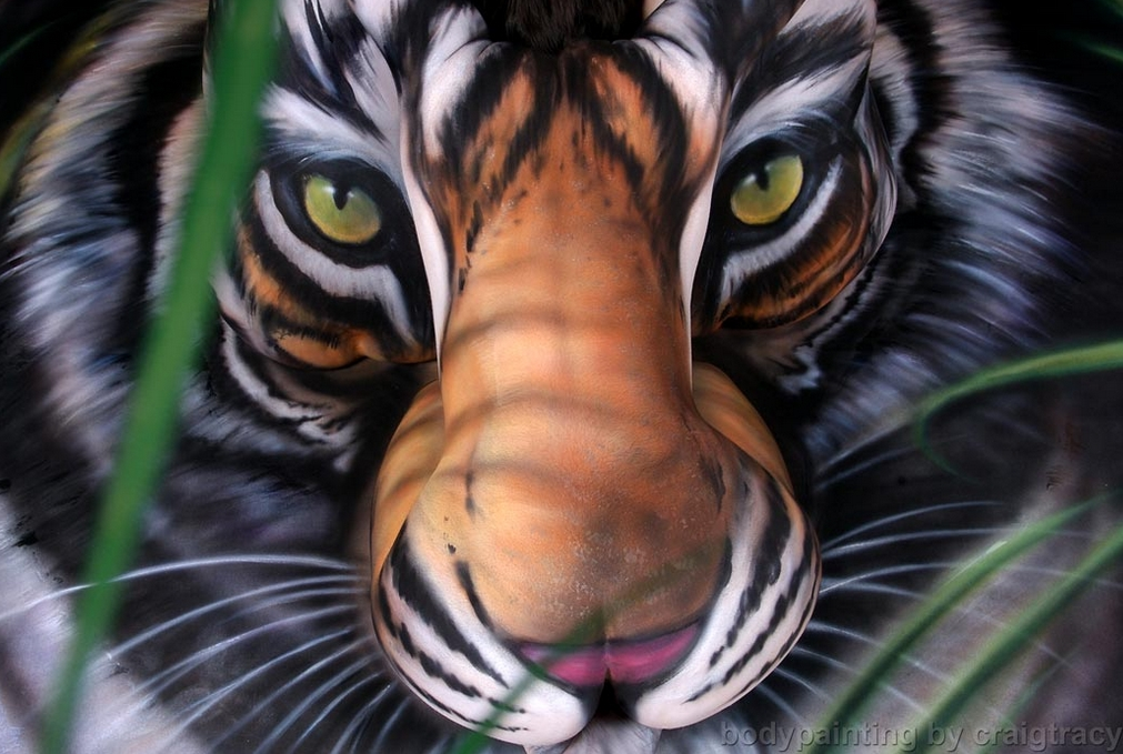 13-Tiger-Craig Tracy-Body-Paintings-on-Skin-Canvases-www-designstack-co