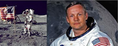 Neil Armstrong landing on moon