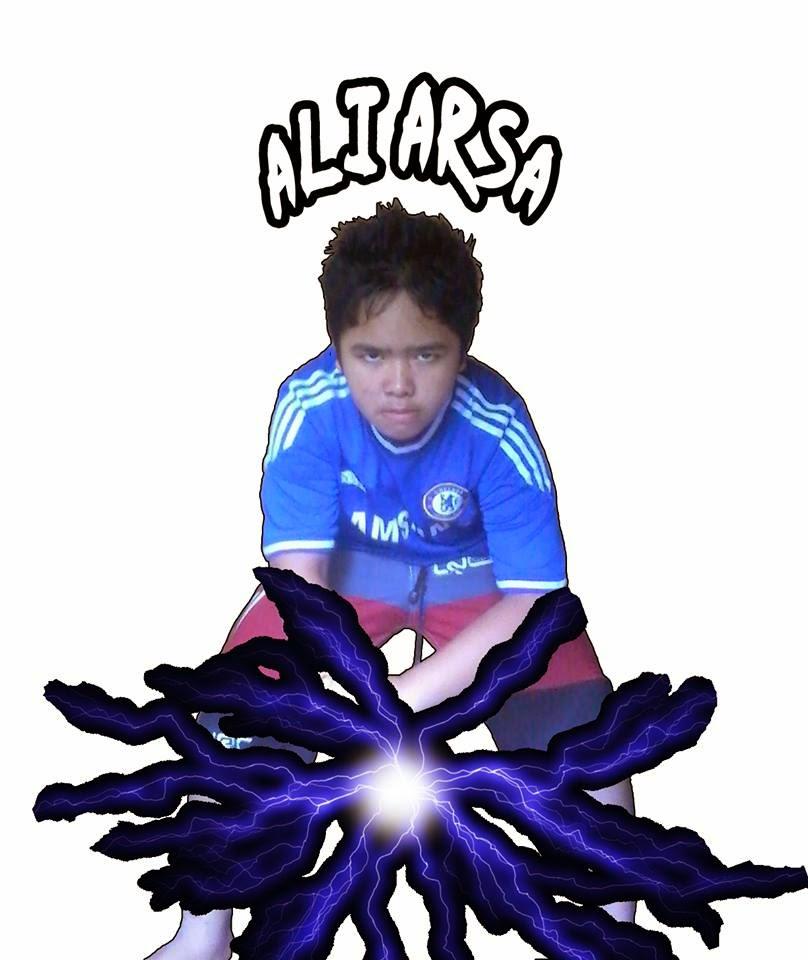 Ali Arsa make a chidori with photoshop