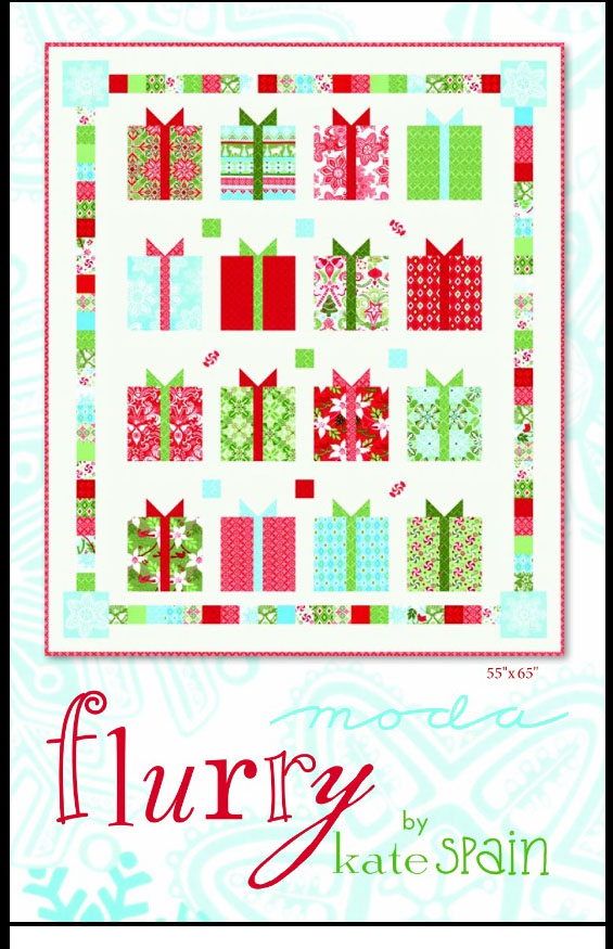 All Things Crafty: Moda Flurry Christmas Present Quilt by Kate Spain
