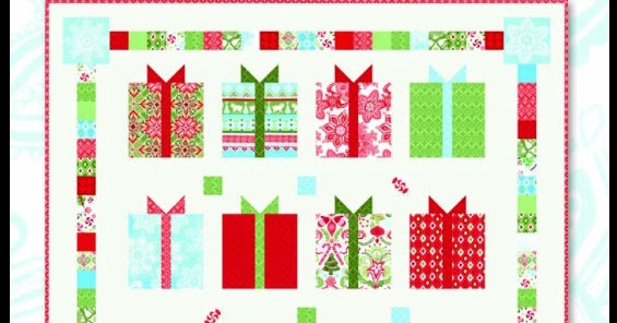All Things Crafty Moda Flurry Christmas Present Quilt By