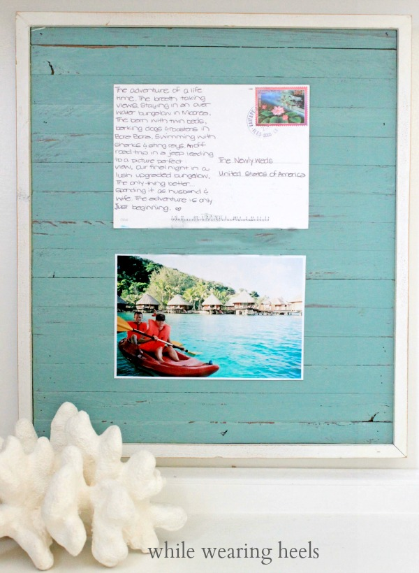 While Wearing Heels: Frame Personalized Postcard Souvenirs