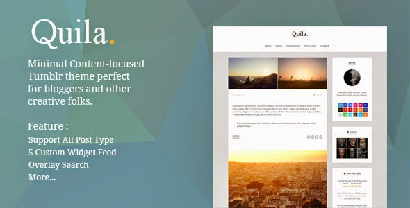 Quila Clean Content Focused Tumblr Theme