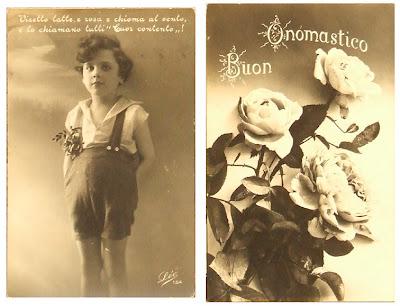 Cartoline Buon Onomastico 1925 - 1926