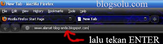 tekan enter untuk melihat ketersediaan Url blog