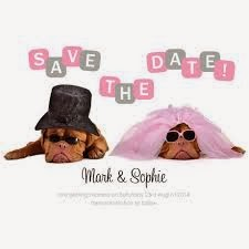 Dog themed Save the date cards from Buzz Invites