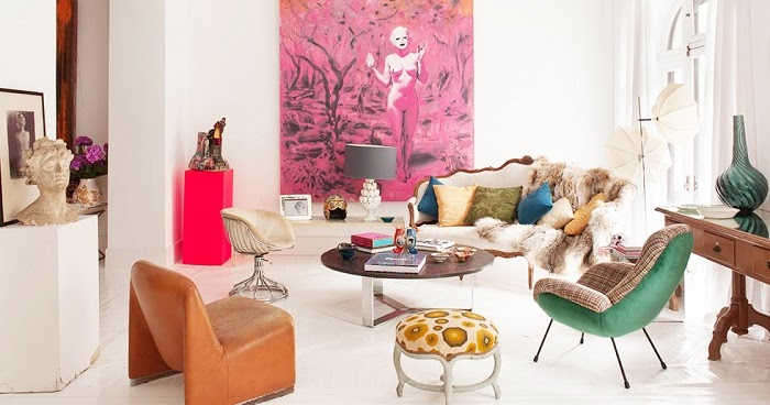 Mix and Chic: Home tour- A designer\'s gallery-themed Madrid apartment!