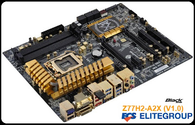 Mainboad ECS Z77H2-A2X Ultimate Golden Edition Extreme Support Processor Ivy Bridge