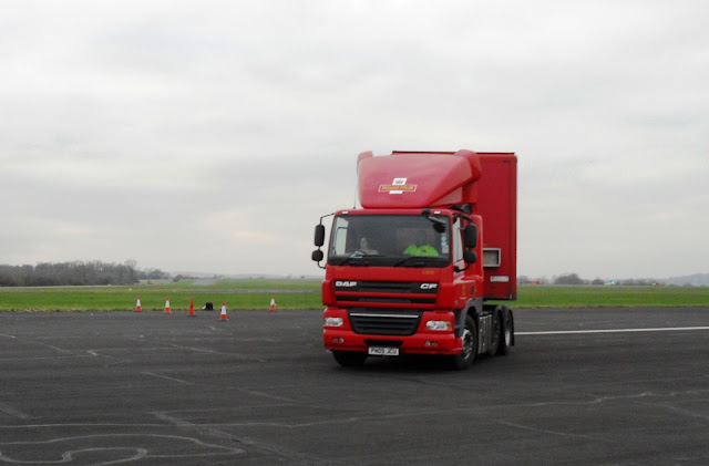 Duck reversing an artic lorry