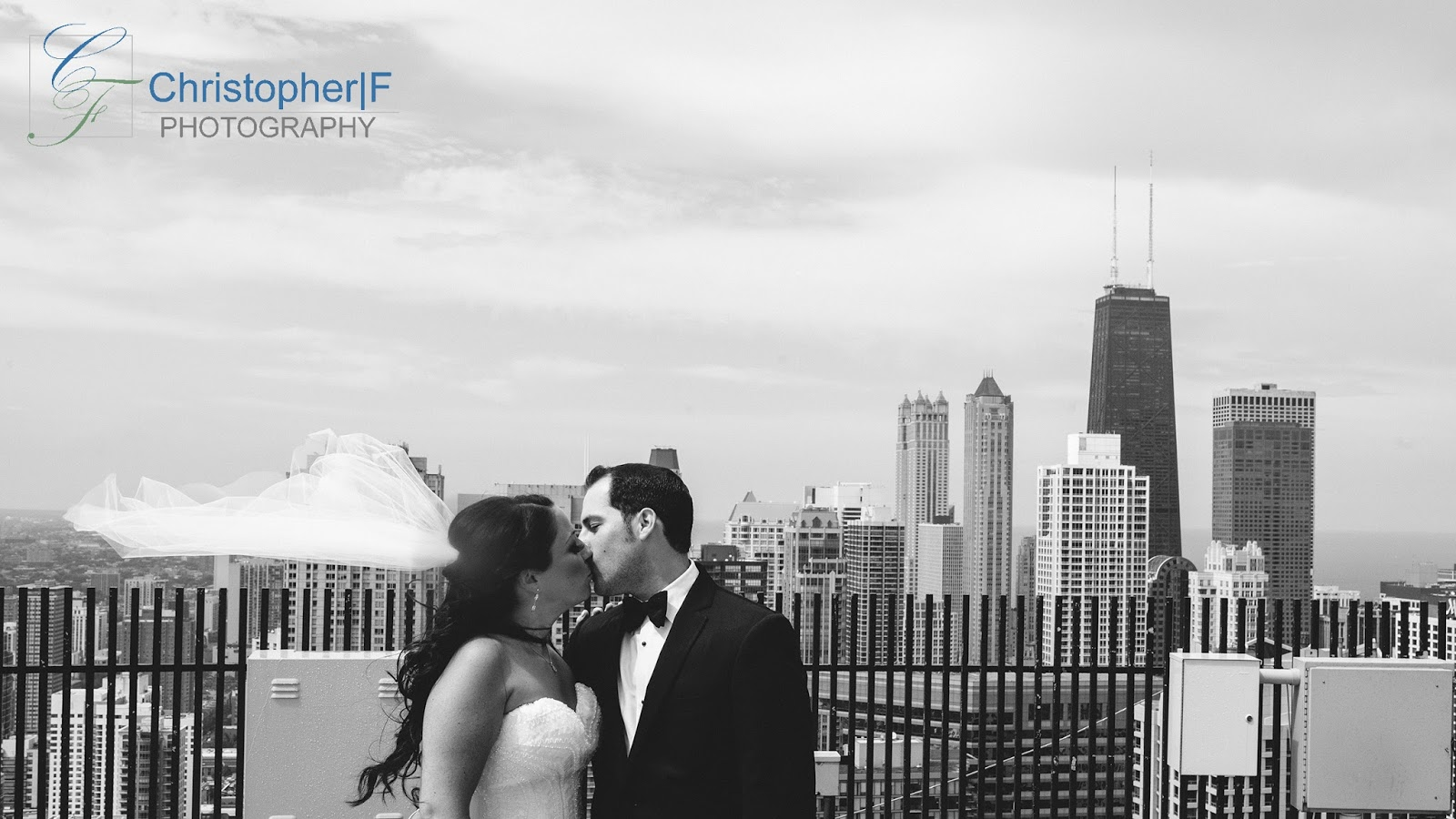 Chicago Wedding Rooftop Portrait