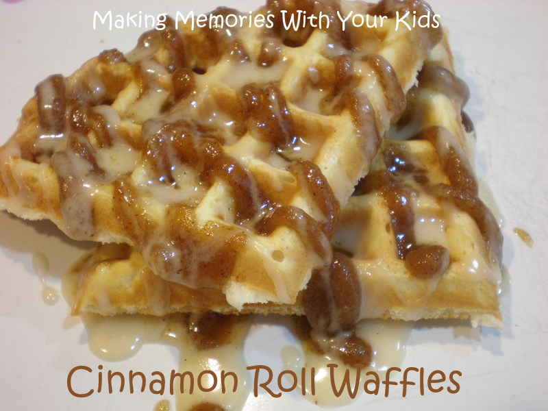Cinnamon Roll Waffles - Making Memories With Your Kids