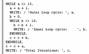 Nested While Loops in SAP ABAP