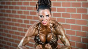 Jodie Marsh posing with grease on her body
