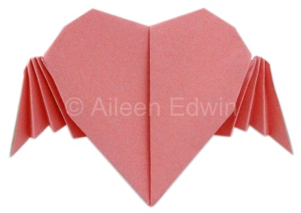 Origami Flying Heart