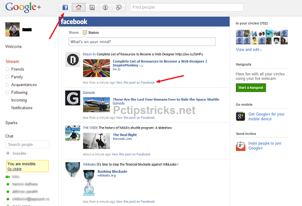 Integrate Facebook With Google+