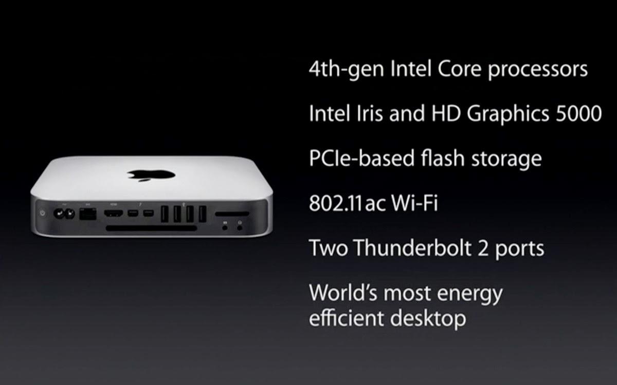 Le caratteristiche del nuovo aggiornamento del Mac mini.