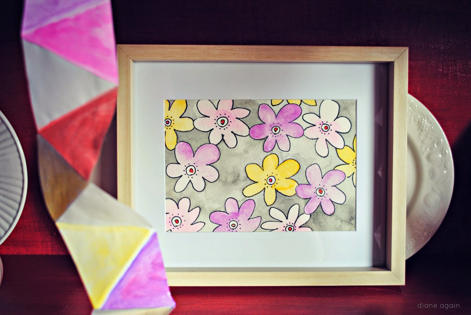 Diane Again Draw This Spring Flowers