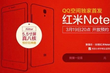 Xiaomi akan perkenalkan Red Rice Note minggu ini di China