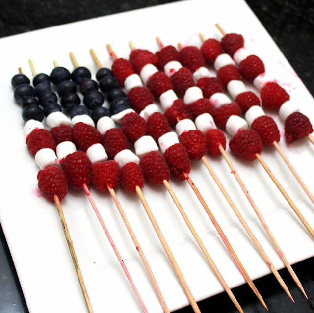 Inspired by erecipecards flag fruit on a stick 4th of for 4th of july appetizers and desserts