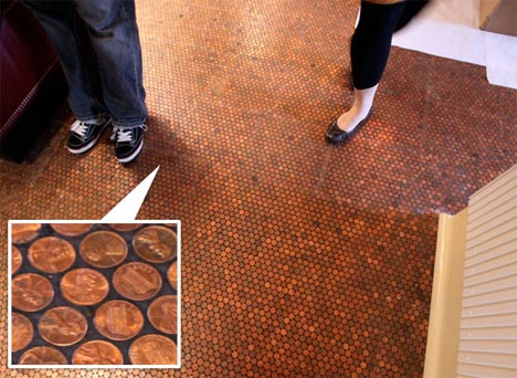 A Luxurious Copper Floor for Pennies and 7 Other Penny Decor