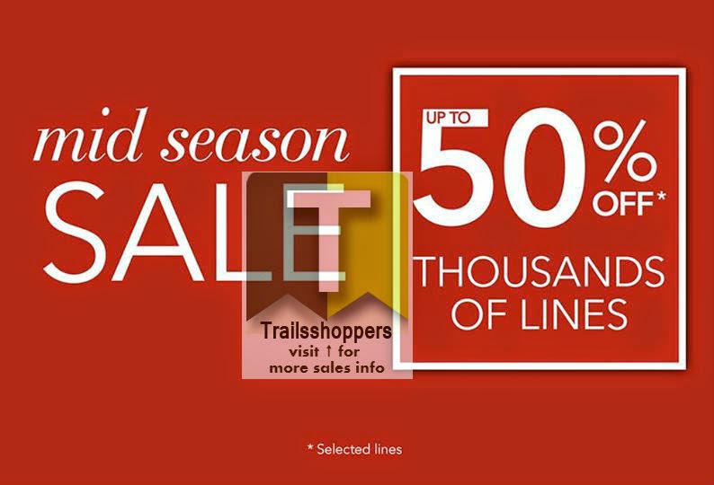 Check out Debenham's Mid Season Sale up to 50% off happening at 3 locations.