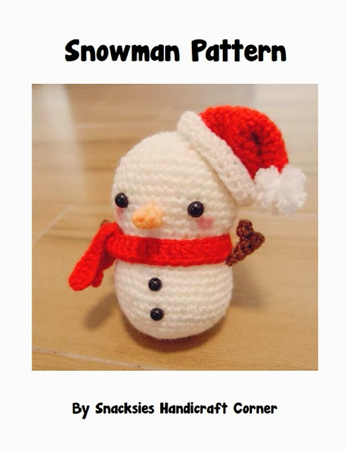 crocheted snowman amigurumi pattern