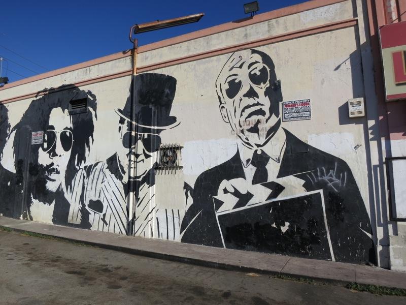 Melroseandfairfax old school mr brainwash mural still riding for Mural by mr brainwash