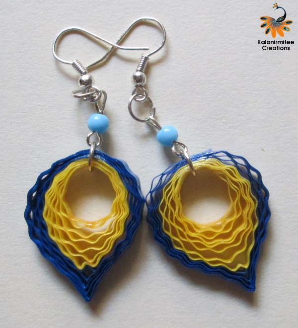 Quilling Papers Earrings: Kalanirmitee Creations