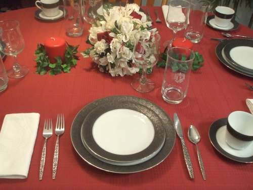 Formal Dinner Table Set Up
