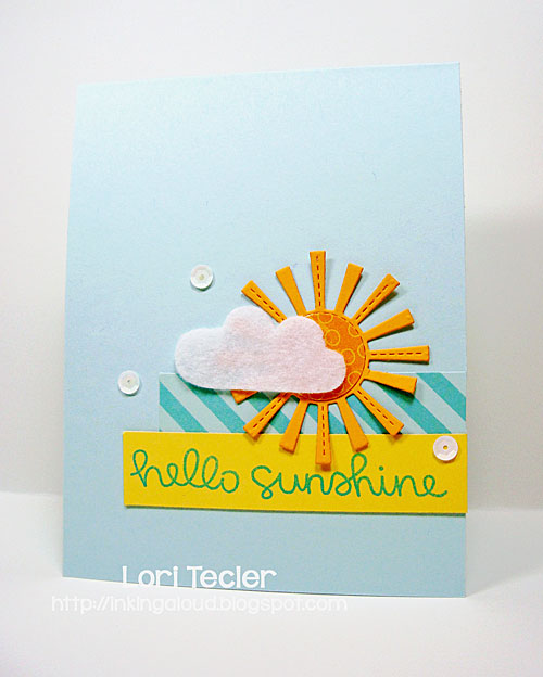 Hello Sunshine card-designed by Lori Tecler/Inking Aloud-stamps and dies from Lawn Fawn