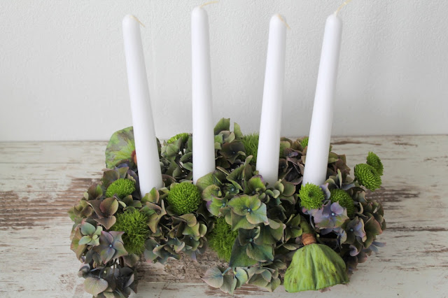 DIY Adventskranz Kerzen