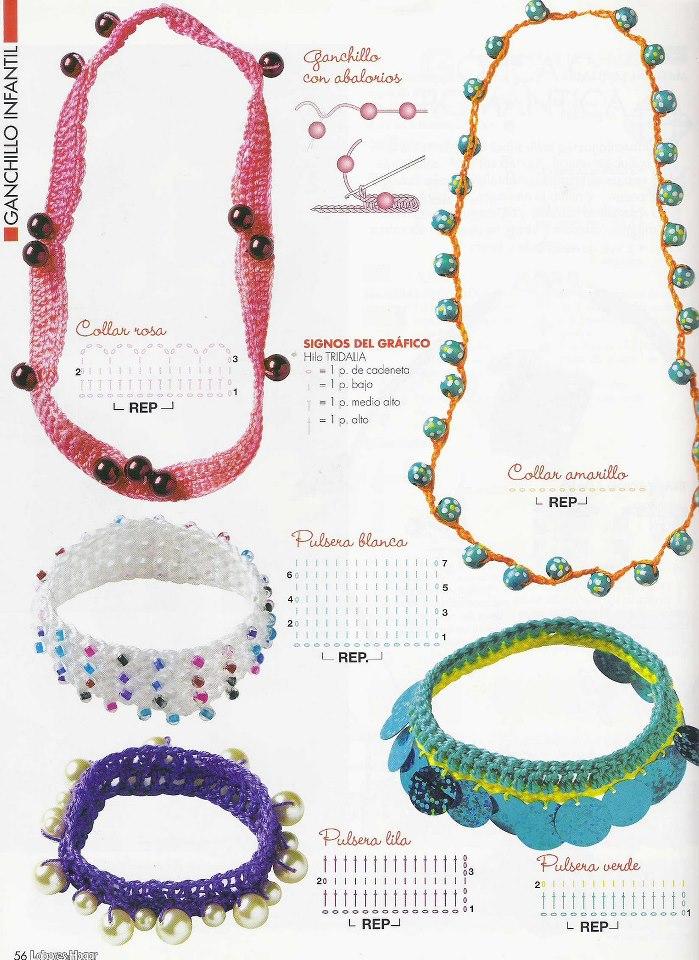 Collares a crochet patrones - Imagui