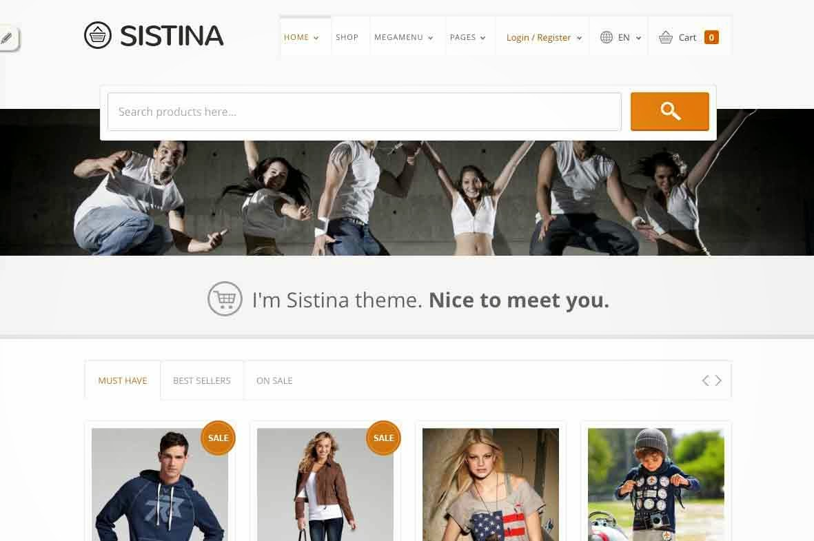 Sistina - Flat Multipurpose Shop Theme
