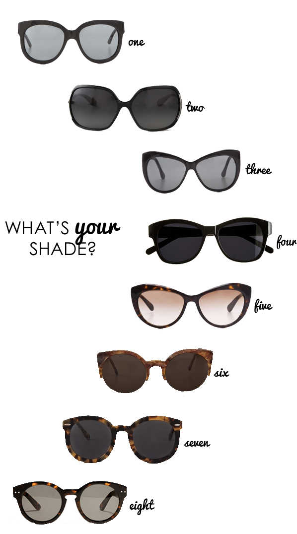 Sunglasses: What's Your Shade?