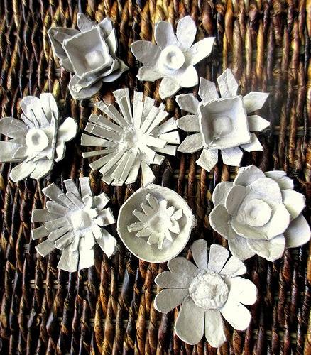 Bunga Hiasan Bekas Telur - Kitar Semula