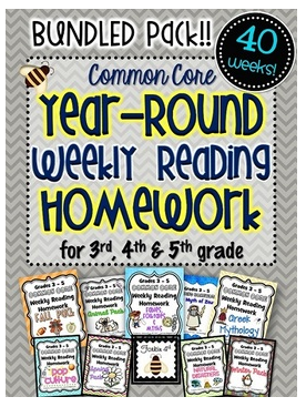 http://www.teacherspayteachers.com/Product/Common-Core-Weekly-Reading-Homework-3rd-4th-5th-Grade-Complete-Set-40-Texts-772040