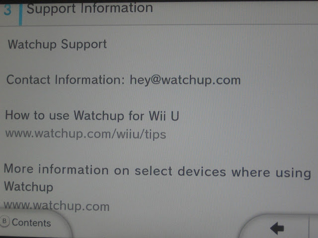 Watchup Nintendo Wii U electronic support manual information
