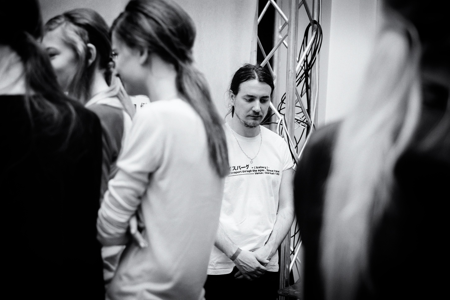 via fashioned by love   Alexis Martial at Iceberg backstage