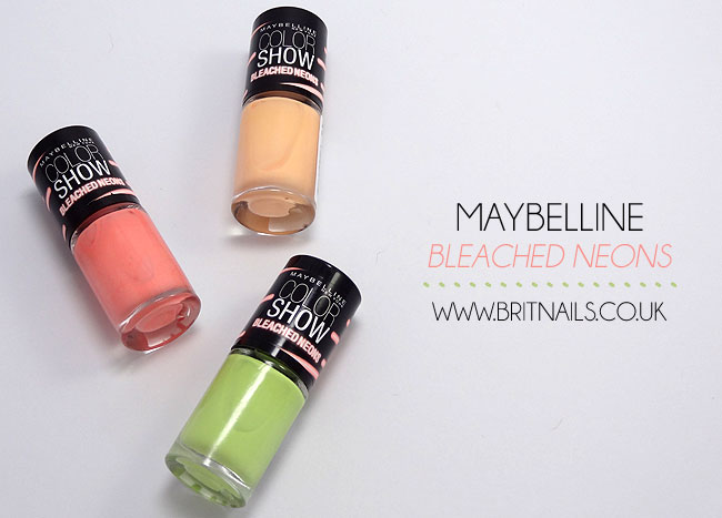 Maybelline Bleached Neon Collection