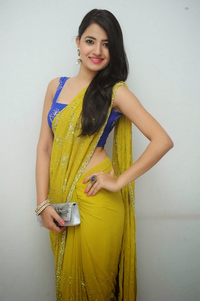 Actress Ruksar Meer In Spicy Yellow Saree Stills