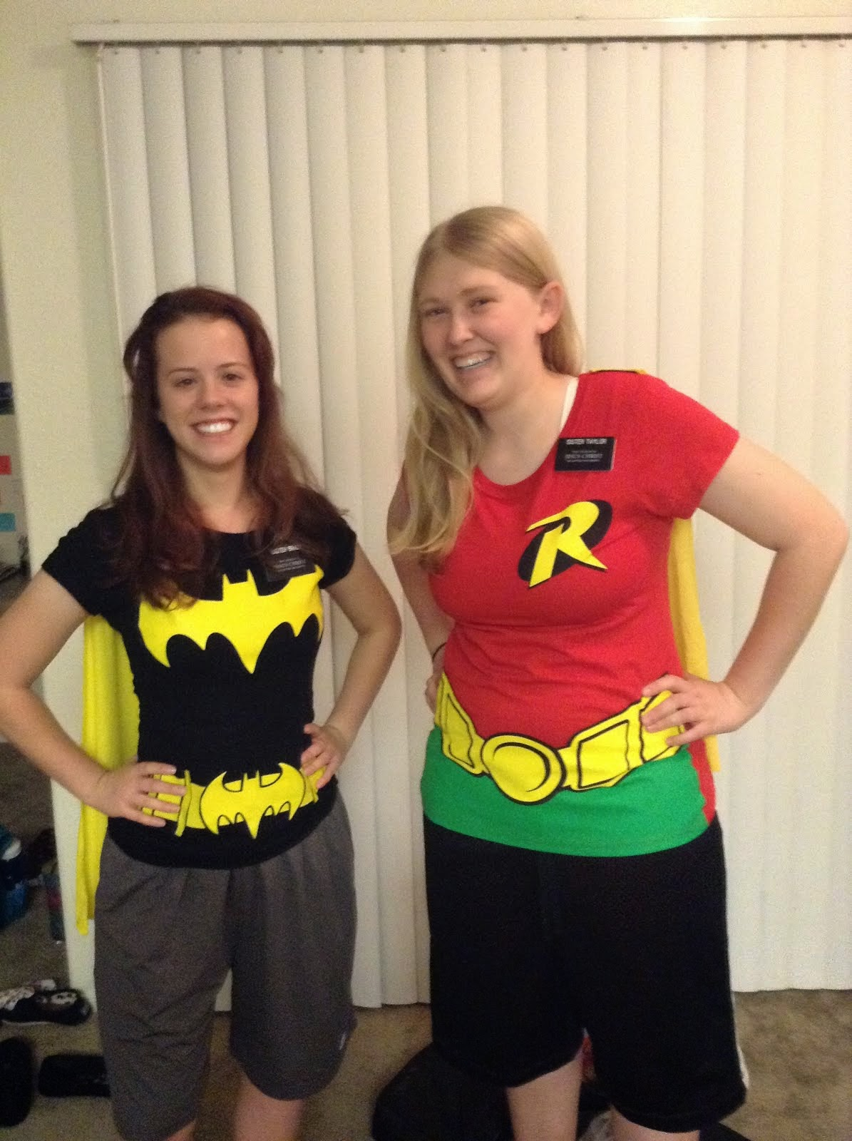 Sisters Batman and Robin
